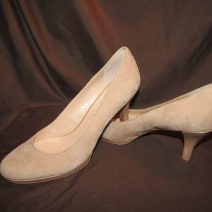 """Franco Sarto nude suede platform 3.5"""" heels sz 10"""